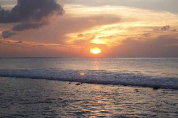 Paradise island sunrise